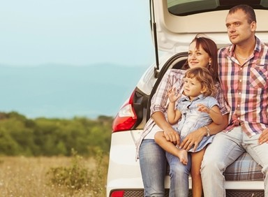 Families love to take road trips during the summer.