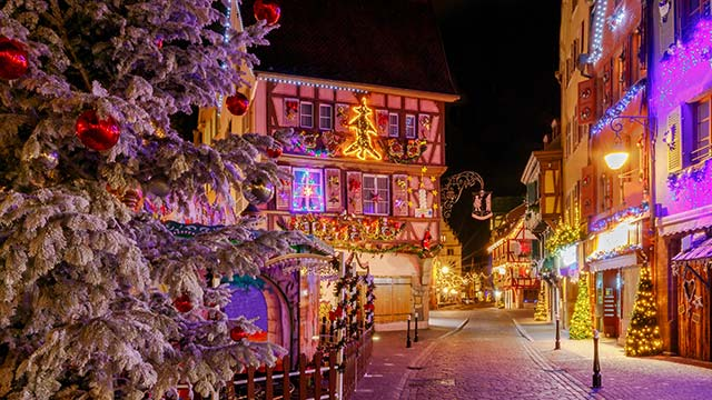 Colmar France on Christmas Eve